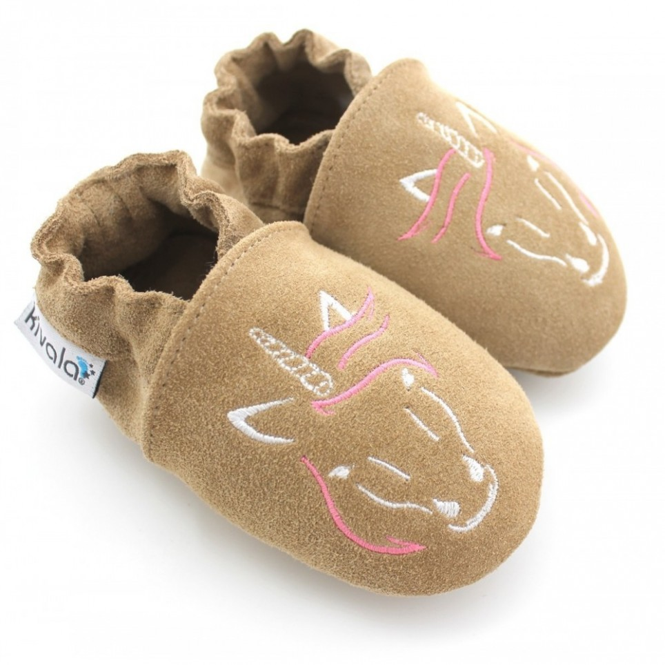 Chaussons souples antiderapants Licorne