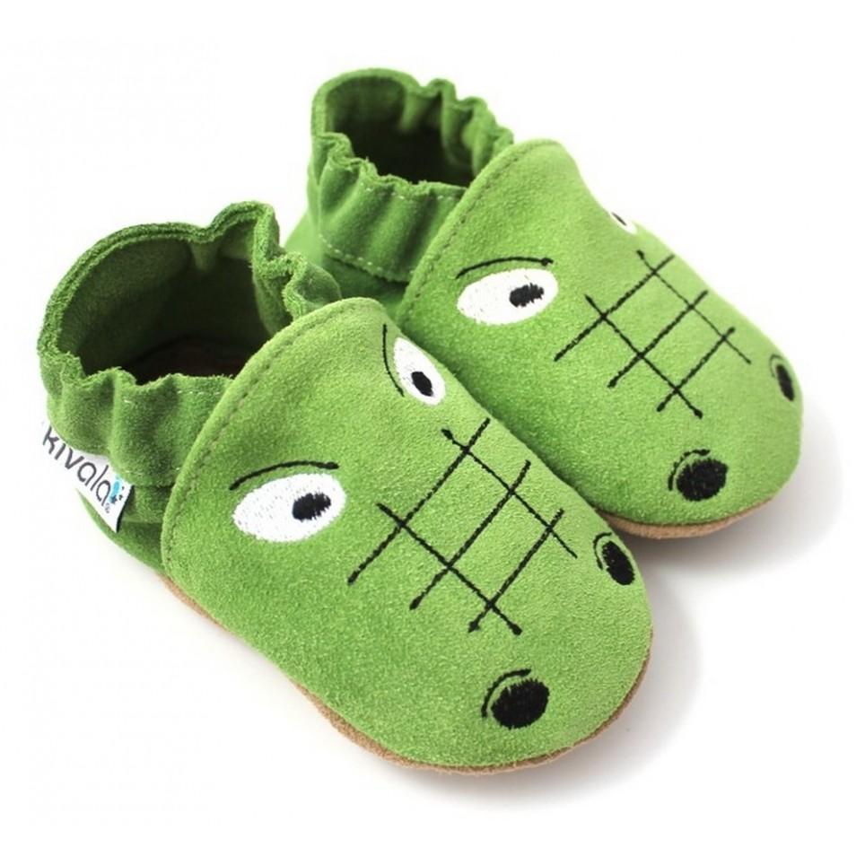 super populaire b1441 8118a Chaussons cuir souple Crocodile