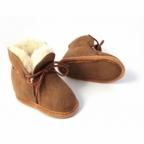 Pantoufles en peau de mouton camel