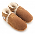 Chaussons souples fourres laine Perfection Camel