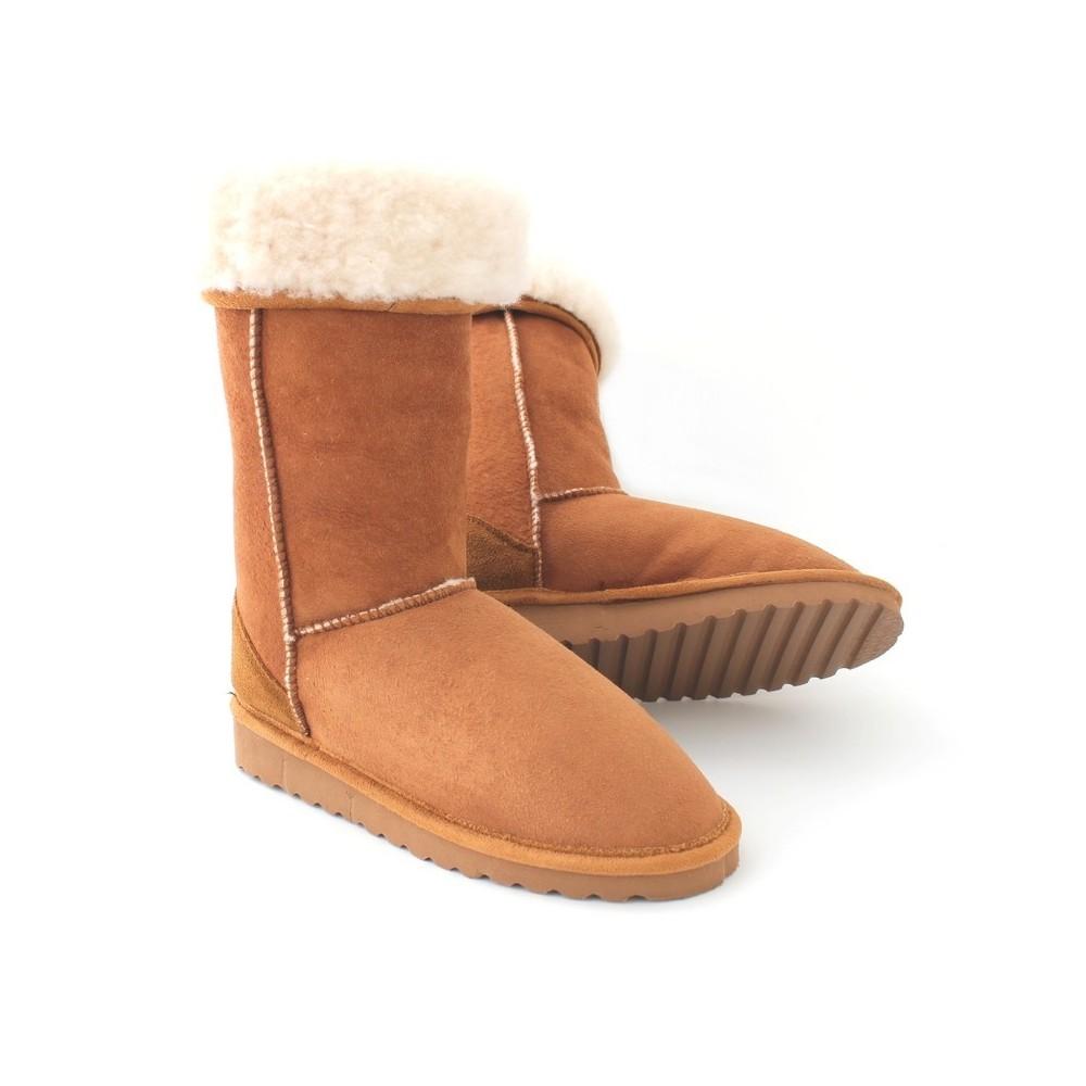 Des bottes intérieur fourré camel